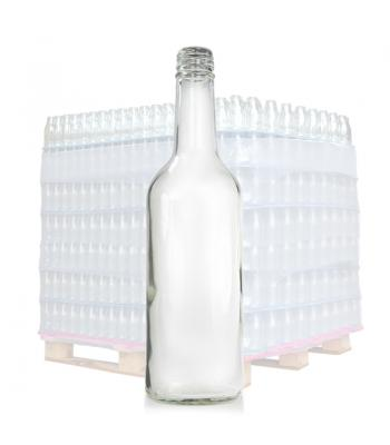 500ml Clear Glass Mountain Bottle & 28mm T/E Cap