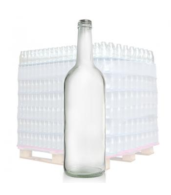 750ml Clear Glass Mountain Bottle & 28mm T/E Cap
