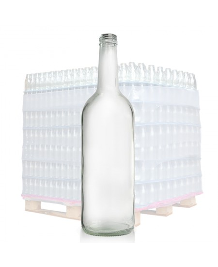 750ml Clear Glass Water Bottle And T E Cap