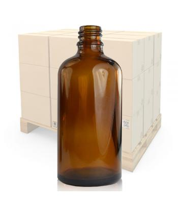 100ml Amber Glass Dropper Bottle with 18mm Neck