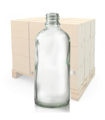 100ml Clear Glass Dropper Bottle With 18mm Neck