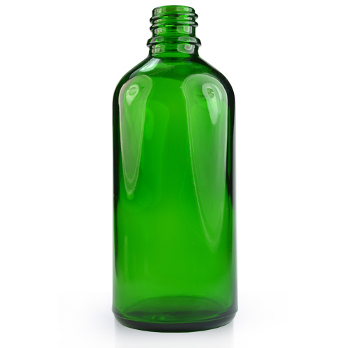 100ml Green Glass Dropper Bottle With 18mm Neck