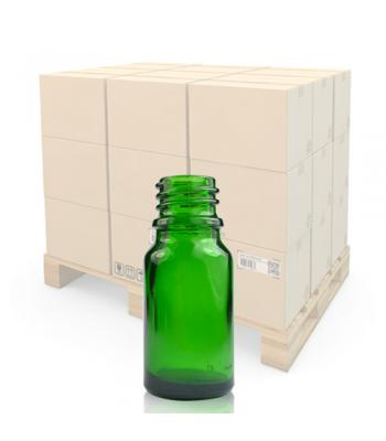 10ml Green Glass Dropper Bottle With 18mm Neck