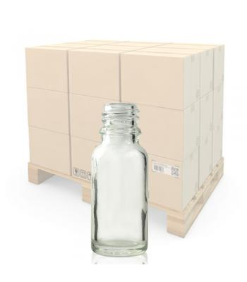 15ml Clear Glass Dropper Bottle With 18mm Neck