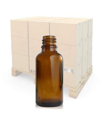 30ml Amber Glass Dropper Bottle With 18mm Neck