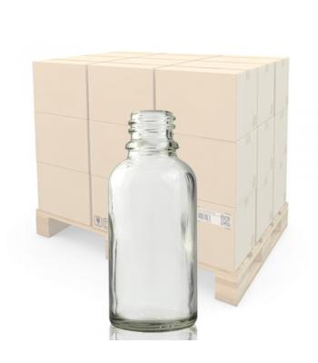 30ml Clear Glass Dropper Bottle with 18mm Neck
