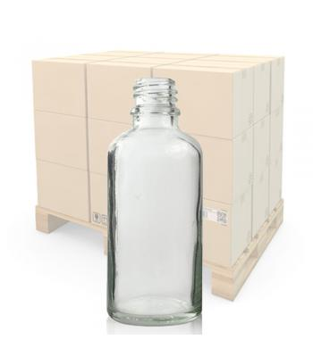 50ml Clear Glass Dropper Bottle With 18mm Neck