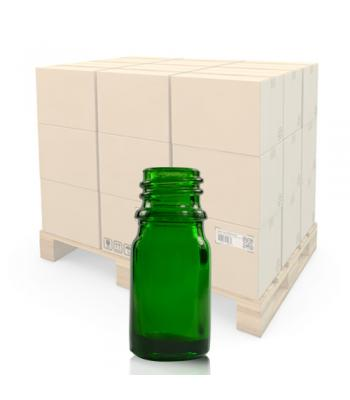 5ml Green Glass Dropper Bottle With 18mm Neck