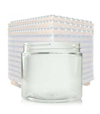 200ml Clear Plastic Wide Neck Jar & 70mm Lid