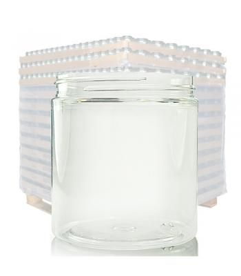 250ml Clear Plastic Wide Neck Jar & 70mm Lid