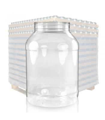 3000ml Clear PET Plastic Jar & 100mm Screw Cap