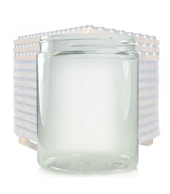 300ml Clear Plastic Wide Neck Jar & 70mm Lid