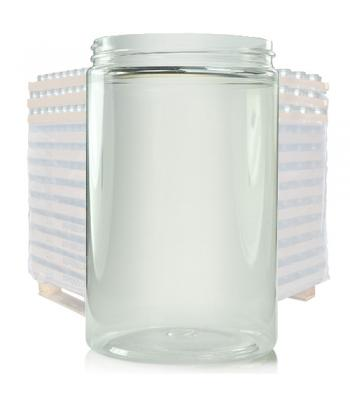 400ml Clear Plastic Wide Neck Jar & 70mm Lid