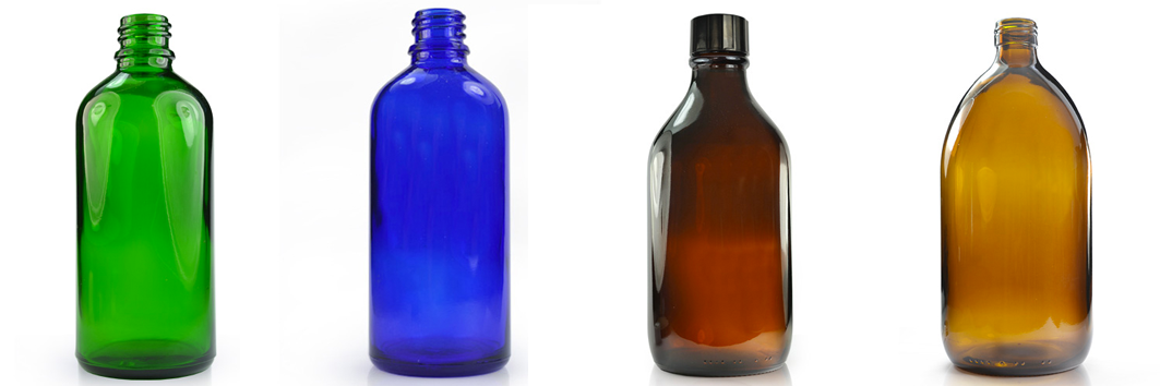 Coloured Glass Bottles at Wholesale Prices UK